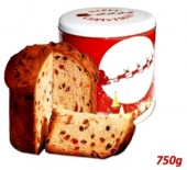 Panettone in cutie metalica Christmas 750gr